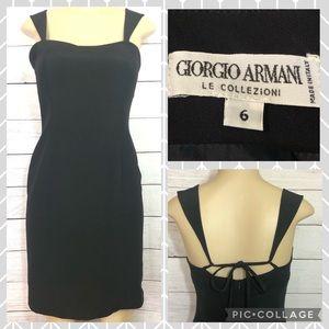 Giorgio Armani Le Collezioni Black Dress Size 6